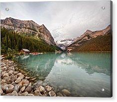 Lake Louise Canoe Rental Acrylic Print
