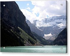 Lake Louise Acrylic Print by Carolyn Ardolino