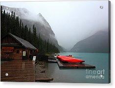 Lake Louise In Banff Alberta Acrylic Print