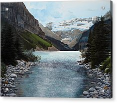 Lake Louise Acrylic Print by Jennifer Hotai
