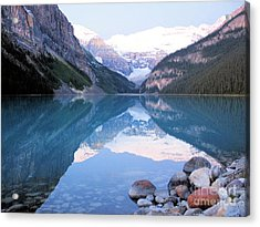Acrylic Print featuring the photograph Lake Louise Morning by Gerry Bates