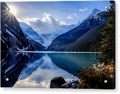Lake Louise With Sunstar Acrylic Print
