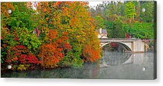 Lake Lure Autumn Acrylic Print by Marion Johnson