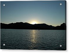 Acrylic Print featuring the photograph Lake Lure Sunset by Allen Carroll