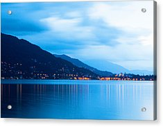 Lake Maggiore Before Sunrise Acrylic Print by Susan Schmitz