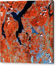 Lake Maggiore Acrylic Print by European Space Agency/copernicus Sentinel Data (2015)