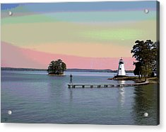 Lake Martin Lighthouse Acrylic Print by Charles Shoup
