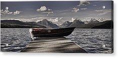 Acrylic Print featuring the photograph Lake Mcdonald by Ellen Heaverlo