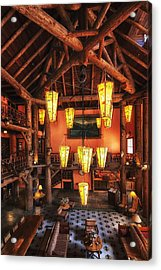 Lake Mcdonald Lodge Acrylic Print by Mark Kiver