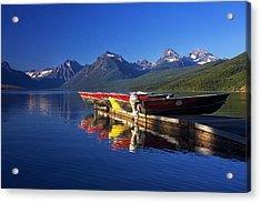 Lake Mcdonald Morning Acrylic Print by Mark Kiver