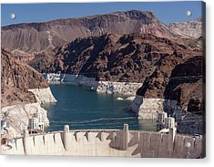 Lake Mead Dam And Hydro Plant Acrylic Print by Ashley Cooper