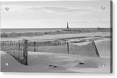 Lake Michigan Don't Fence Me In Acrylic Print by Rosemarie E Seppala