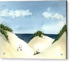 Lake Michigan Dunes Acrylic Print by Lynn Babineau