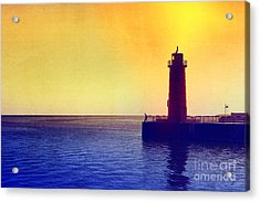 Lake Michigan Acrylic Print by Erika Weber