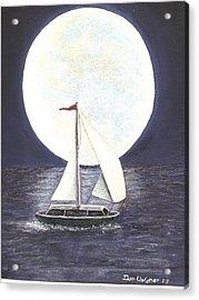Lake Michigan Full Moon Acrylic Print