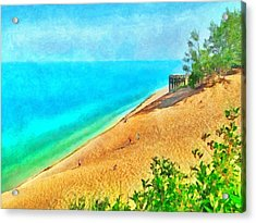 Lake Michigan Overlook On The Pierce Stocking Scenic Drive Acrylic Print