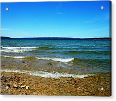 Lake Michigan Acrylic Print by Tracey Griffor