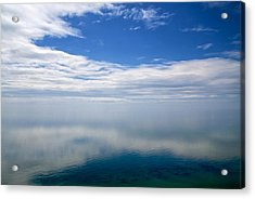 Lake Michigan's Lost Horizon Acrylic Print