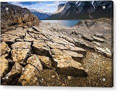 Lake Minnewanka Horizontal Acrylic Print by Chris Halford