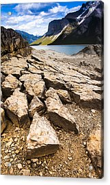 Lake Minnewanka Vertical Acrylic Print by Chris Halford