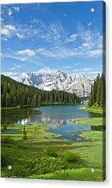 Lake Misurina Acrylic Print by Bob Gibbons