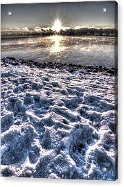 Lake Mjosa Sunset Acrylic Print by Chris Shirley