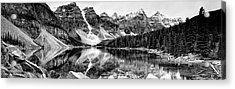 Lake Moraine Reflection Acrylic Print