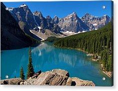 Lake Morine Blue Acrylic Print
