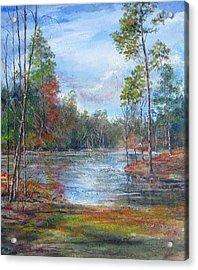 Lake Murray  Acrylic Print by Gloria Turner