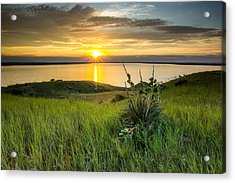 Lake Oahe Sunset Acrylic Print