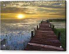 Lake Of Enchantment Acrylic Print by Debra and Dave Vanderlaan