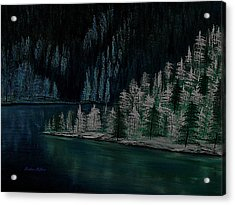 Lake Of The Woods Acrylic Print by Barbara St Jean