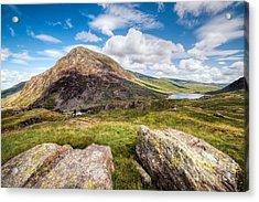 Lake Ogwen Acrylic Print by Adrian Evans