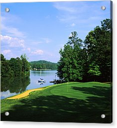 Lake On A Golf Course, Legend Course Acrylic Print by Panoramic Images