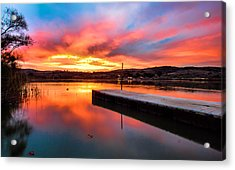 Acrylic Print featuring the photograph Lake Oneil Sunset by Robert  Aycock