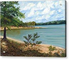 Lake Ouachita Acrylic Print by Helen Eaton