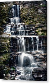 Lake Park Waterfall Acrylic Print by Scott Norris
