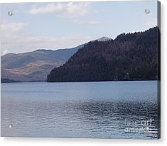 Acrylic Print featuring the photograph Lake Placid Mountains by John Telfer