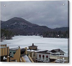 Acrylic Print featuring the photograph Lake Placid Snow Storm by John Telfer