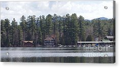 Acrylic Print featuring the photograph Lake Placid Summer House by John Telfer