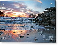 Lake Ponchartrain Sunset Acrylic Print
