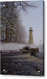 Lake Potanipo Lighthouse Acrylic Print by Brenda Jacobs