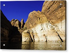 Lake Powell Rock And Sky Acrylic Print by Thomas R Fletcher