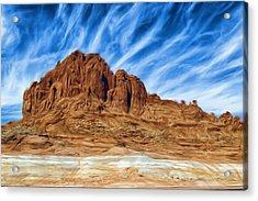 Lake Powell Rocks Acrylic Print by Ayse and Deniz