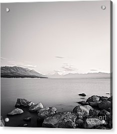 Lake Pukaki And Mount Cook New Zealand. Acrylic Print by Colin and Linda McKie