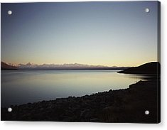 Lake Pukaki First Light Acrylic Print by Peter Mooyman