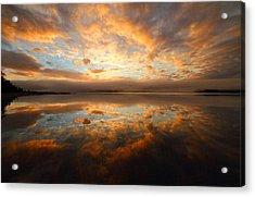 Lake Reflection Sunrise On The Cabot Trail Acrylic Print