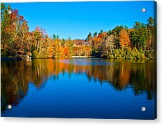 Acrylic Print featuring the photograph Lake Reflections by Alex Grichenko
