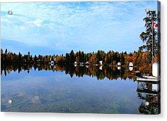 Lake Reflections Acrylic Print by Larry Trupp