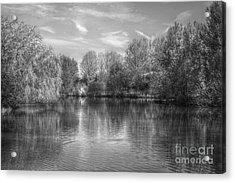 Lake Reflections Mono Acrylic Print